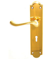 EB0507-lever-handle-brass